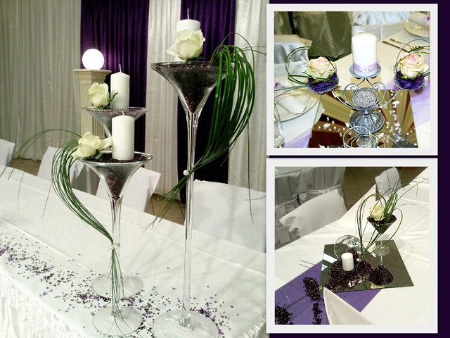 Wedding Table Centerpieces Of Flowers Or Candles If It Were Flowers